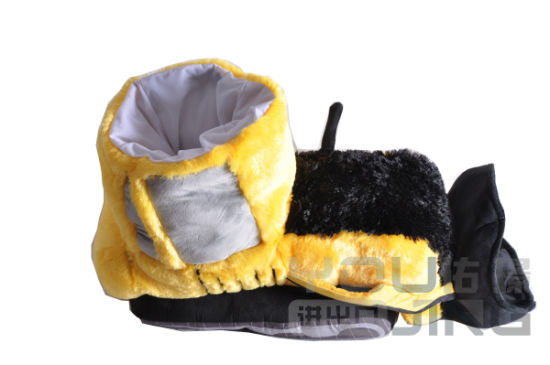 Keep Warm Soft Cotton Indoor Slippers Plush Toy Yellow Shoes
