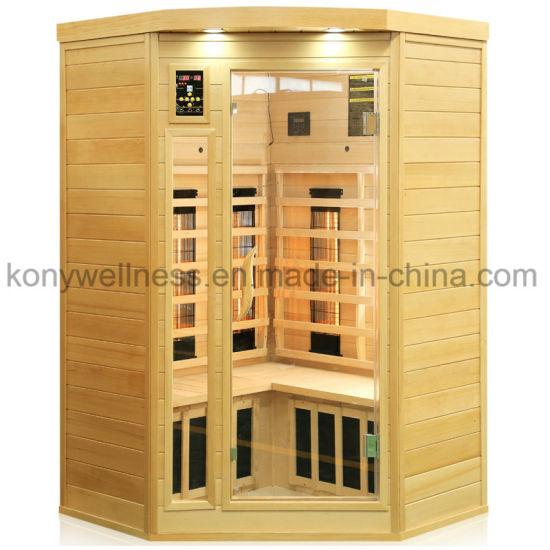 Hot Sale Far Infrared Corner Sauna Room Made If Pure Hemlock Wood with Combined Heater