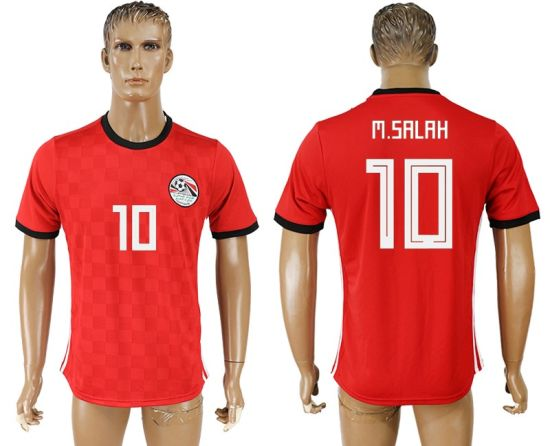 d60a5c6b7f8 2018 World Cup Russia Egypt National Customized M. Salah Soccer Jerseys