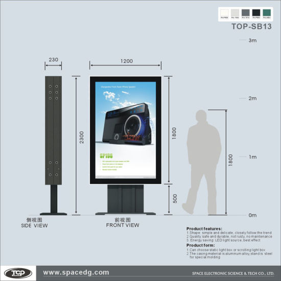 China Customized Design LED Lighting Backlit Double Sided