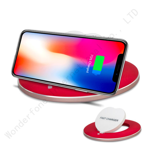 Heart Shape Wireless Fast Charger for iPhone X pictures & photos