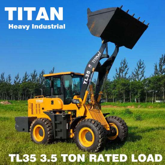 Titan Brand 4WD Heavy Duty Construction Wheel Loader for Sale