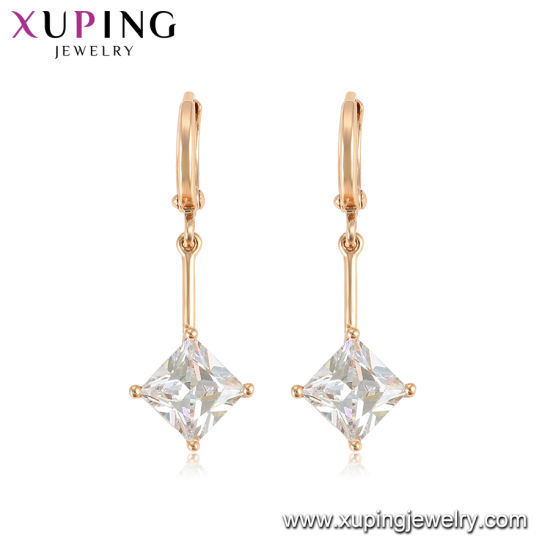 Violet Square Shape Zircon Earrings for Ladies pictures & photos