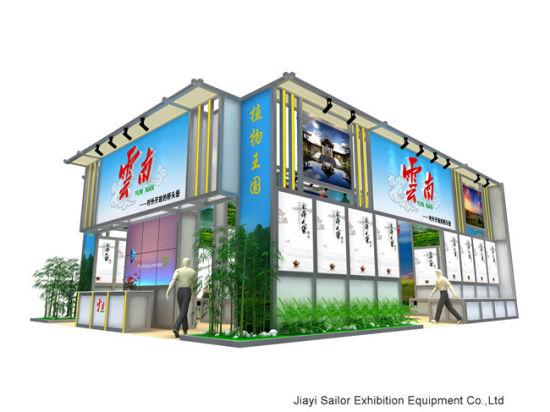 54 Sqm Trade Show Fair Booth Shell Fabric Backdrop