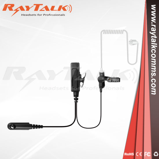 Public Safety Surveillance Accessories Translucent Tube Earpiece and Combined Microphone and Push-to-Talk Button