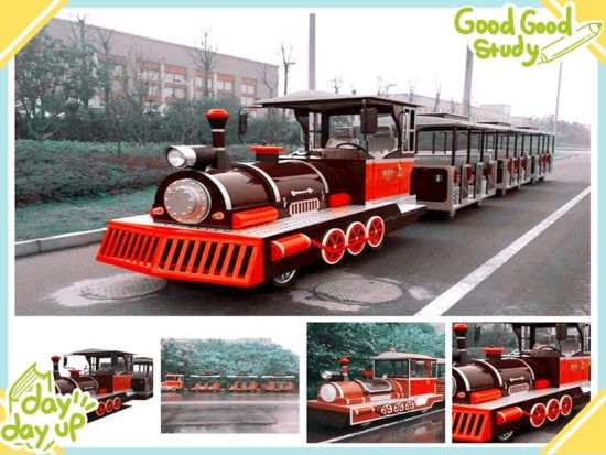 27 Seats Electric Sightseeing Train for Sale (Gasoline Train available)
