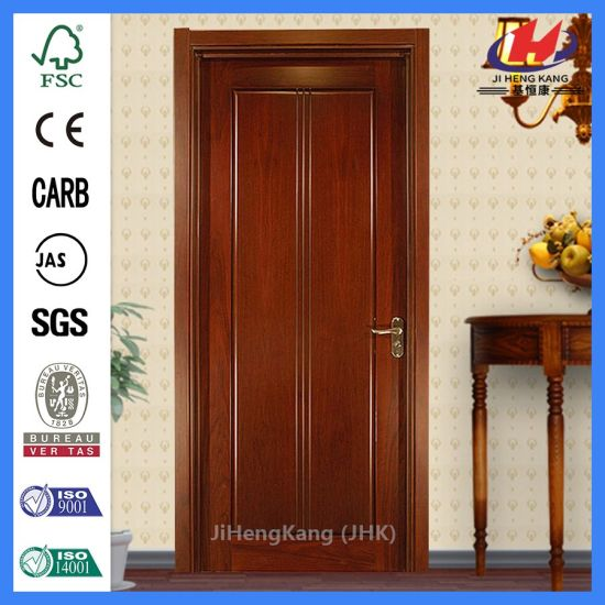 China Panel Inlaid Oak Veneer Door 34 Inch Interior Door Double Door