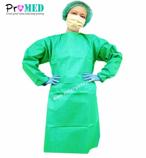 China Medical Supplies SMS Doctor Surgeon Gown - China Disposable ...