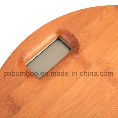 Wholesale Round Bamboo Human Body Digital Balance Scale