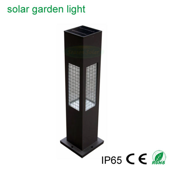 Portable LED Solar Product Fixture Outdoor Solar Bollard Light with Warm + White LED Lights