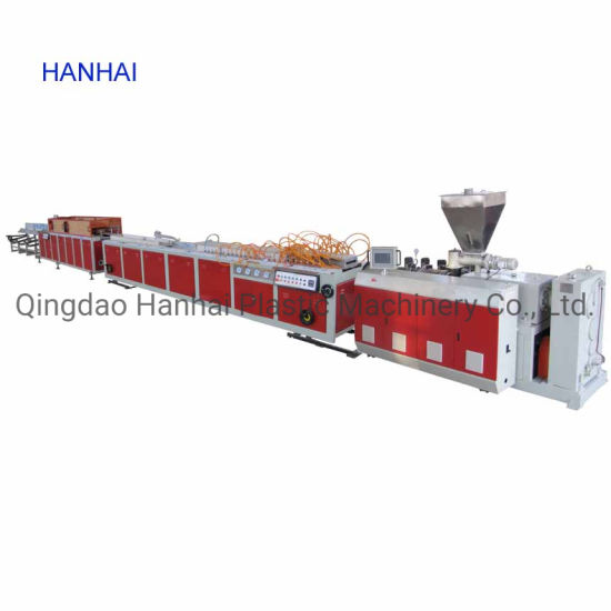 PVC Wall Panel Edge Band Profile Foamed Door Frame Floort Plate Lvt Composite Extrusion Production Line