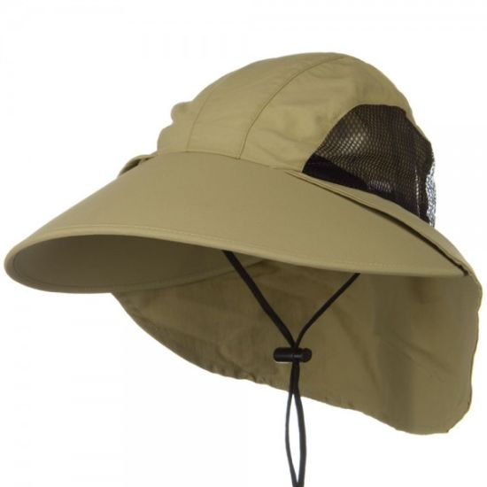 Outdoors Large Brimmed Fishing Hats Sun UV Protection Bucket Hat Flap Cap