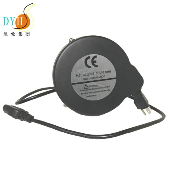 Tangle Free Cord Retractor 4 4 M Retractable Spring Loaded Cable Reel For Office Equipment