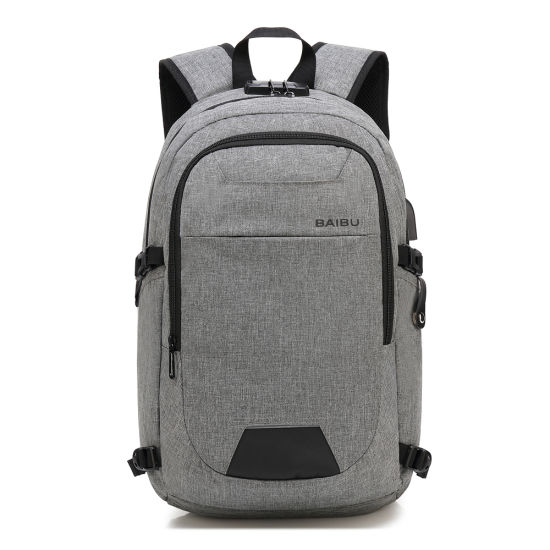 Wholesale Promotion Outdoor Travel Backpack USB Charging School Student Colleague Briefcase Business Notebook Computer Laptop Bag pictures & photos