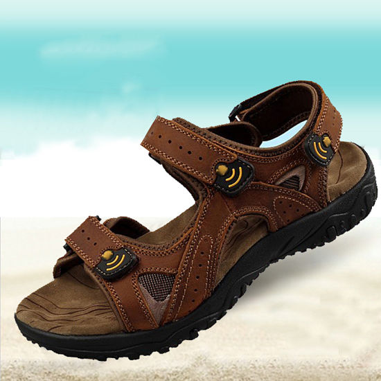 255e888d91bbb China Hot Selling Amazon Products Men Sport Leather Design Sandals ...