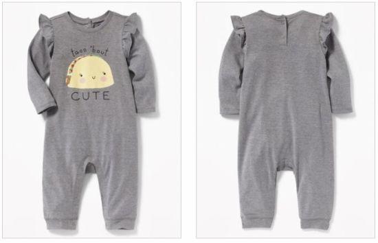 Oem Or Odm Fashion Footie Organic Cotton Baby Clothes Cute Newborn