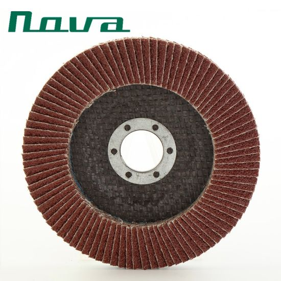Page Abrasive Polishing Cutting Aluminium Oxide Grinding Flap Wheel Disc for Steel