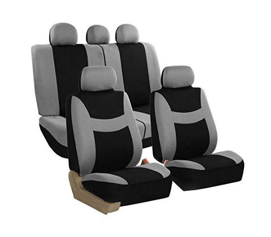 Cloth Seat Cover Set Airbag & Split Ready, Grayblack pictures & photos
