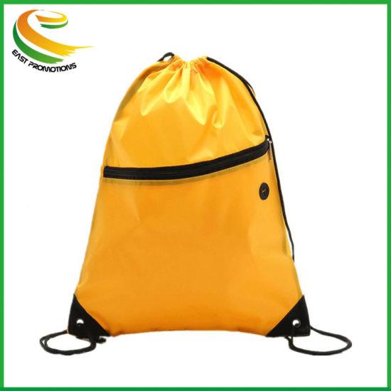 Cheap Custom Cinch No Minimum Draw String Backpack Non Woven Bags