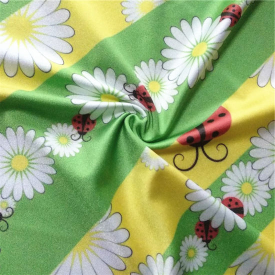Sun Flowers Printed Nylon Spandex Fabric for Swimwear Fabric