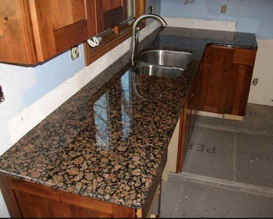 China Prefab Baltic Brown Granite Countertop for Kitchen ...
