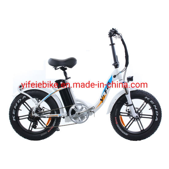 New Popular Woman 20inch Foldable Fat Tire Ebike 48V 500W Electric Bicycle for Old Travel Use