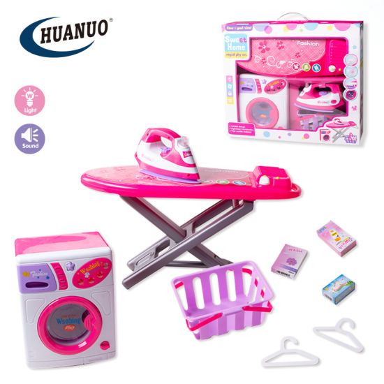 Fashionable Sweet Home Electric Washing Machine and Iron Set Toy pictures & photos