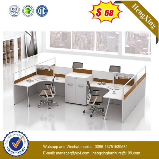 4 Persons Executive Particle Board Modern Color Office Partition Wall pictures & photos