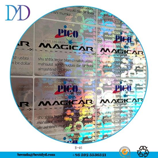 Customized 3D Holographic Anti-Counterfeiting Sticker Label Paper