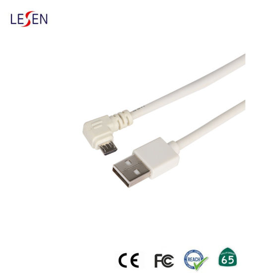 USB 2.0 to L Shaped Right Angle Micro USB Cable