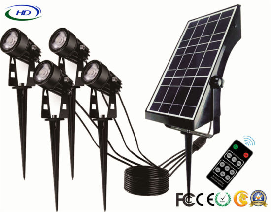 IP65 Solar Garden Light with 4 Epistar 1W LEDs for Lawn Decoration