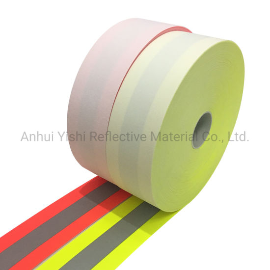 "Flame Fire Resistant Retardant Reflective Tape 2/"" Sew-On lime"