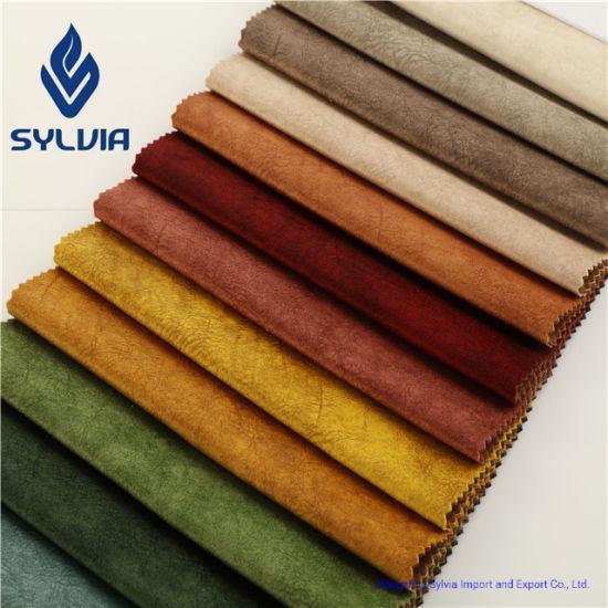 100% Polyester High Quality Plain Sofa Velvet Fabric