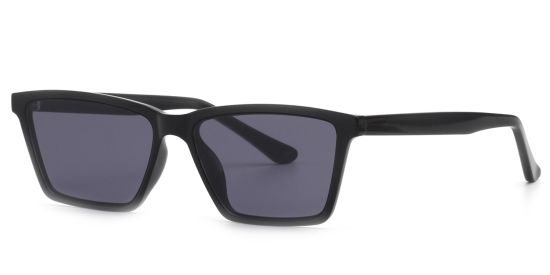 Rectangle Black Shadow UV Protection Lens, Design Eyeglasses Frame for Men&Women