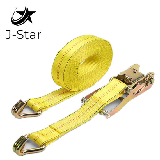 UV/GS Certified 5ton Yellow Short End Reinforced Lashing Strap