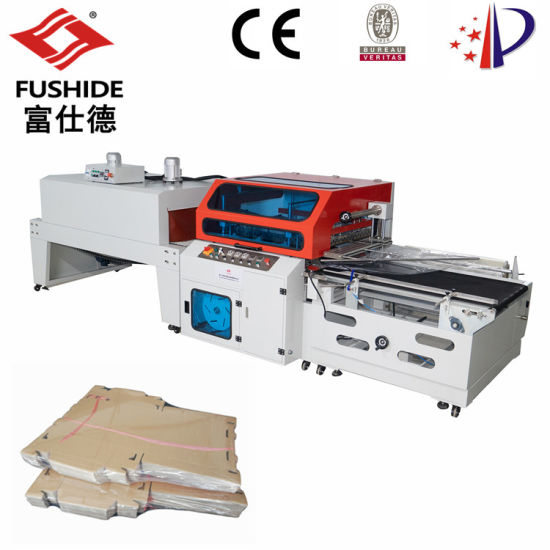 Automatic Heat Hot Sealing Sealer and Shrink Shrinkable Shrinking Film Pack Packer Package Packing Wrap Wrapper Wrapping Machine for Carton Box