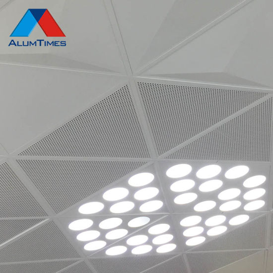 China Foshan Factory Perforated Metal False Ceiling Panels 600x600 Clip In Sheet Aluminum Metal Roof Ceiling China Powder Coated Aluminum Ceiling Aluminum Clip In Ceiling