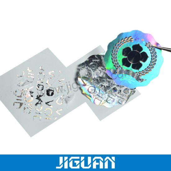 Custom Tamper Proof 3D Void Hologram Sticker Private Label