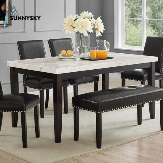 China Wooden Black Dining Table Bench For 4 New Design Furniture Restaurant Dining Tables China Dining Tables Dining Table Set