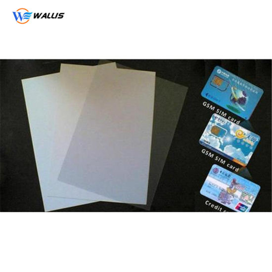 0.3mm Plastic White PVC Polycarbonate Polyester Pet Plastic Card Core Sheet Roll for Laser Printing Card