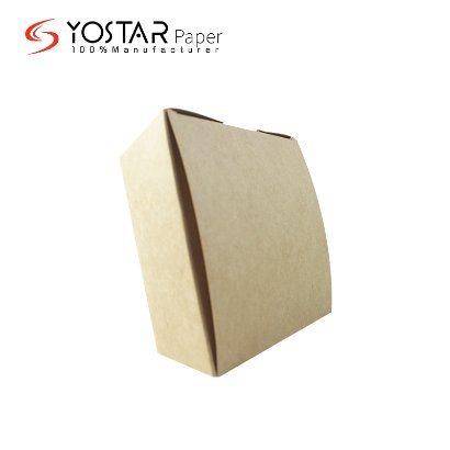 Qualified Brown Kraft Cardboard Disposable Fast Food Lunch Paper Packaging Box