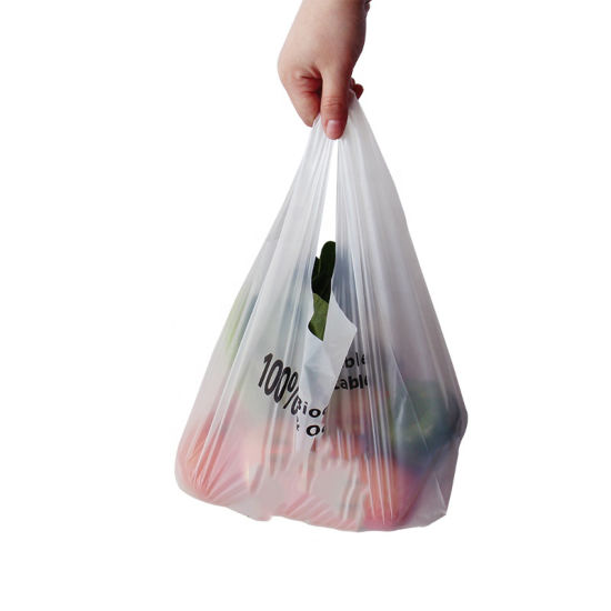 100% Biodegradable & Compostable Free Plastic Corn Starch+PLA+Pbat Shopping Bags