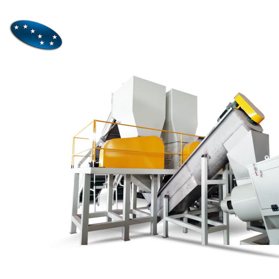 Pet Bottle Flakes Hot Wash Recycle Drying System