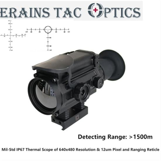 Mil-Std Over 1500m Long Range Detecting Night Vision Hunting Thermal Sight Rifle Scope