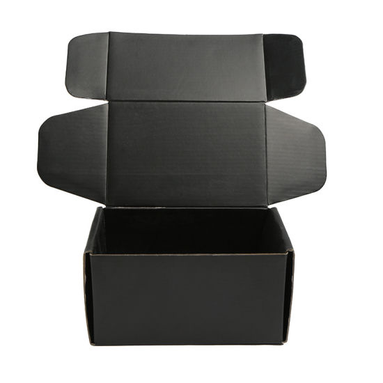 Custom Printed Black Luxury Cosmetic Packaging Shipping Folding Box