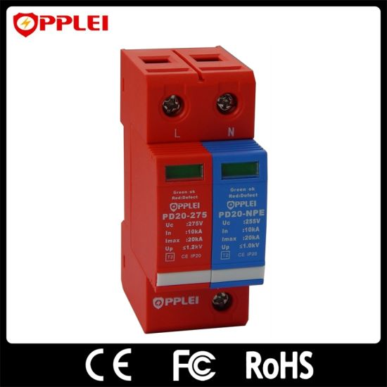 China Household DIN Rail 35mm 1+Npe AC Power Low-Voltage Surge ...