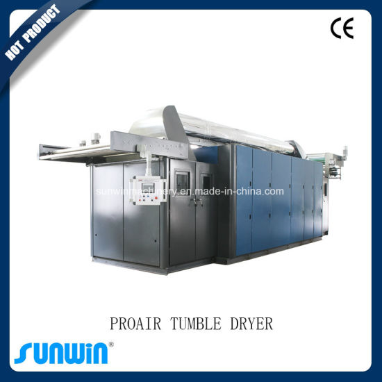 Proair Textile Tumble Dryer Machine Connect with Heat Setting Machine pictures & photos