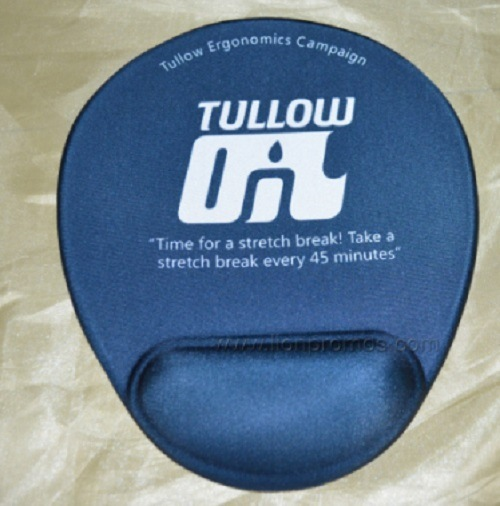 Tullow Oil Logo Printed Silicone Gel Wrist Rest Mouse Pad