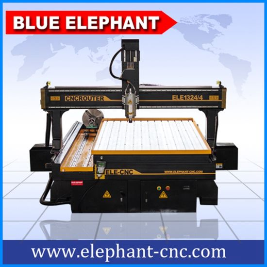 Ele 1324 4 Axis Stone Engraving Machine CNC Router, Wood Engraving for Wooden Furniture pictures & photos