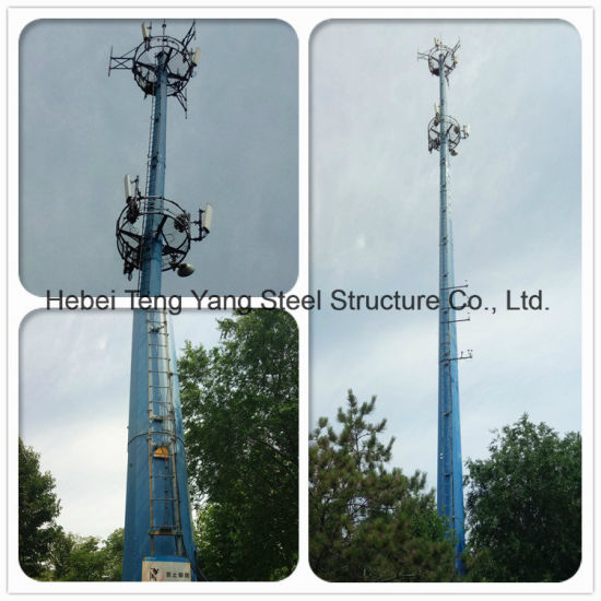 Steel Antenna Pole Transmission Monopole Communication Tower pictures & photos